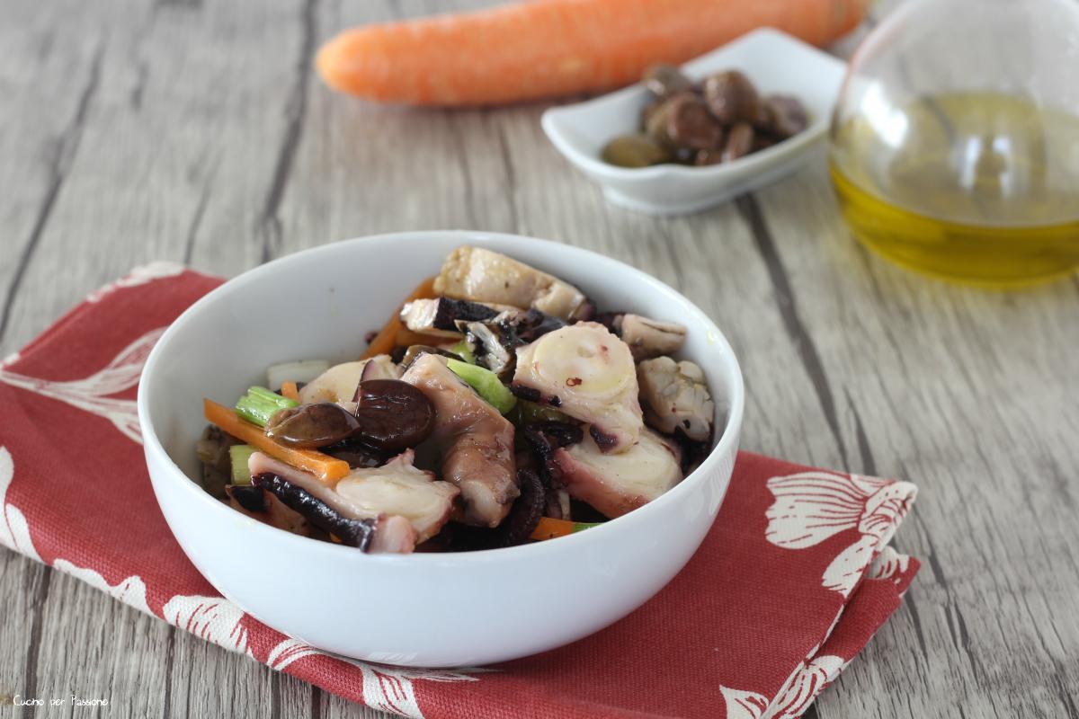 Insalata di polpo lesso ricetta con verdure