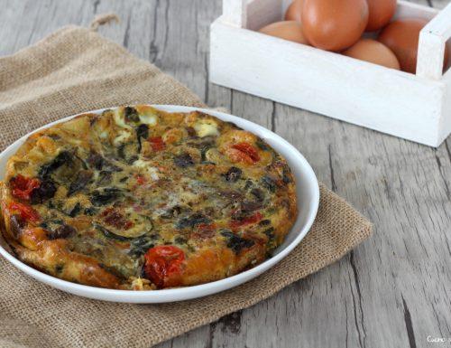 Ricetta frittata al forno con verdure miste