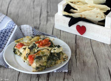 Lasagne con pane carasau alle verdure