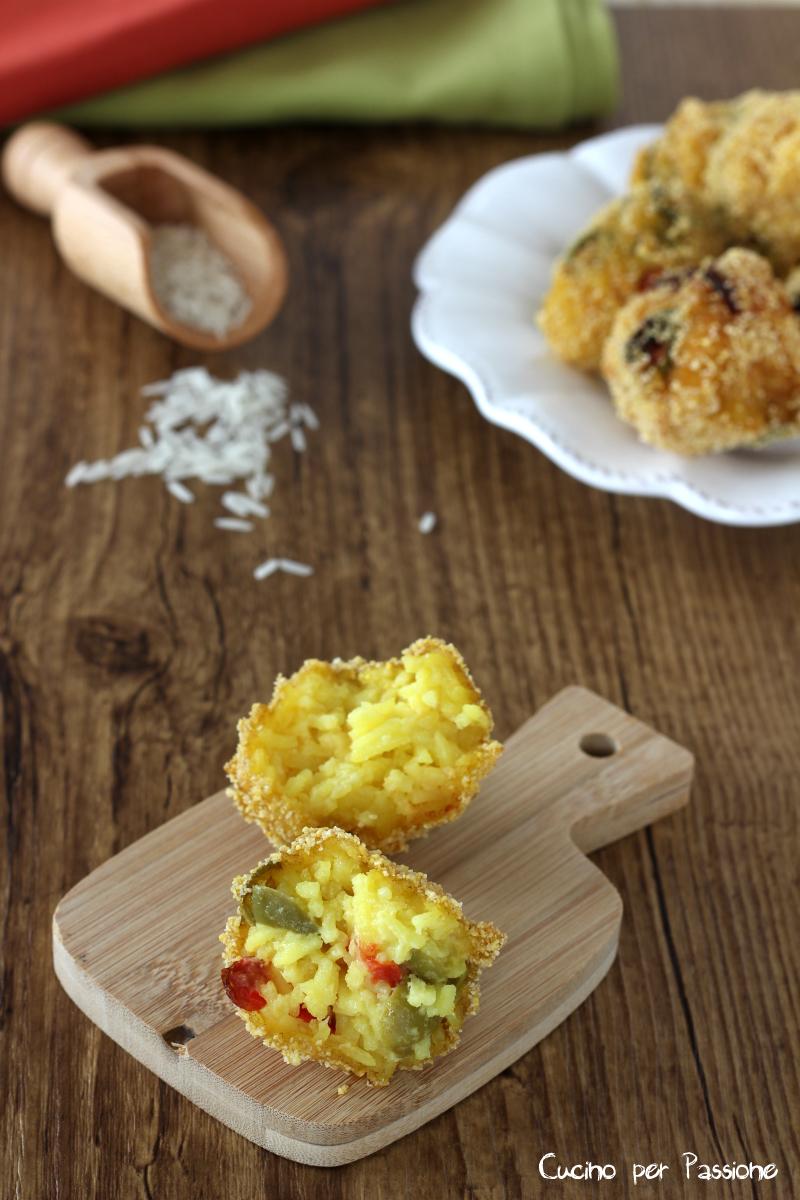 Polpette riso basmati pomodorini e olive