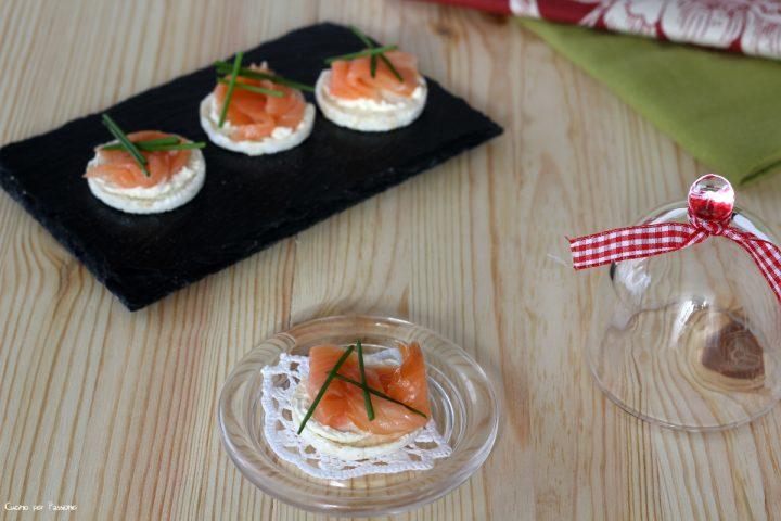 Crostini al salmone light