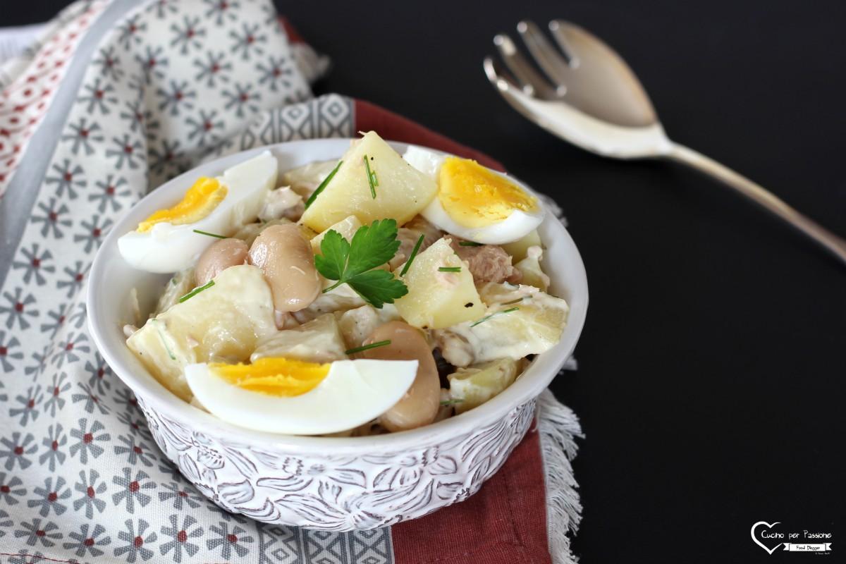 Insalata di tonno e patate-piatto freddo