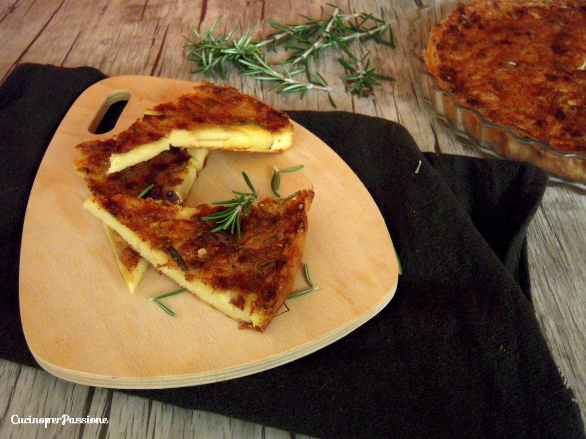 Farinata di ceci con patate e rosmarino