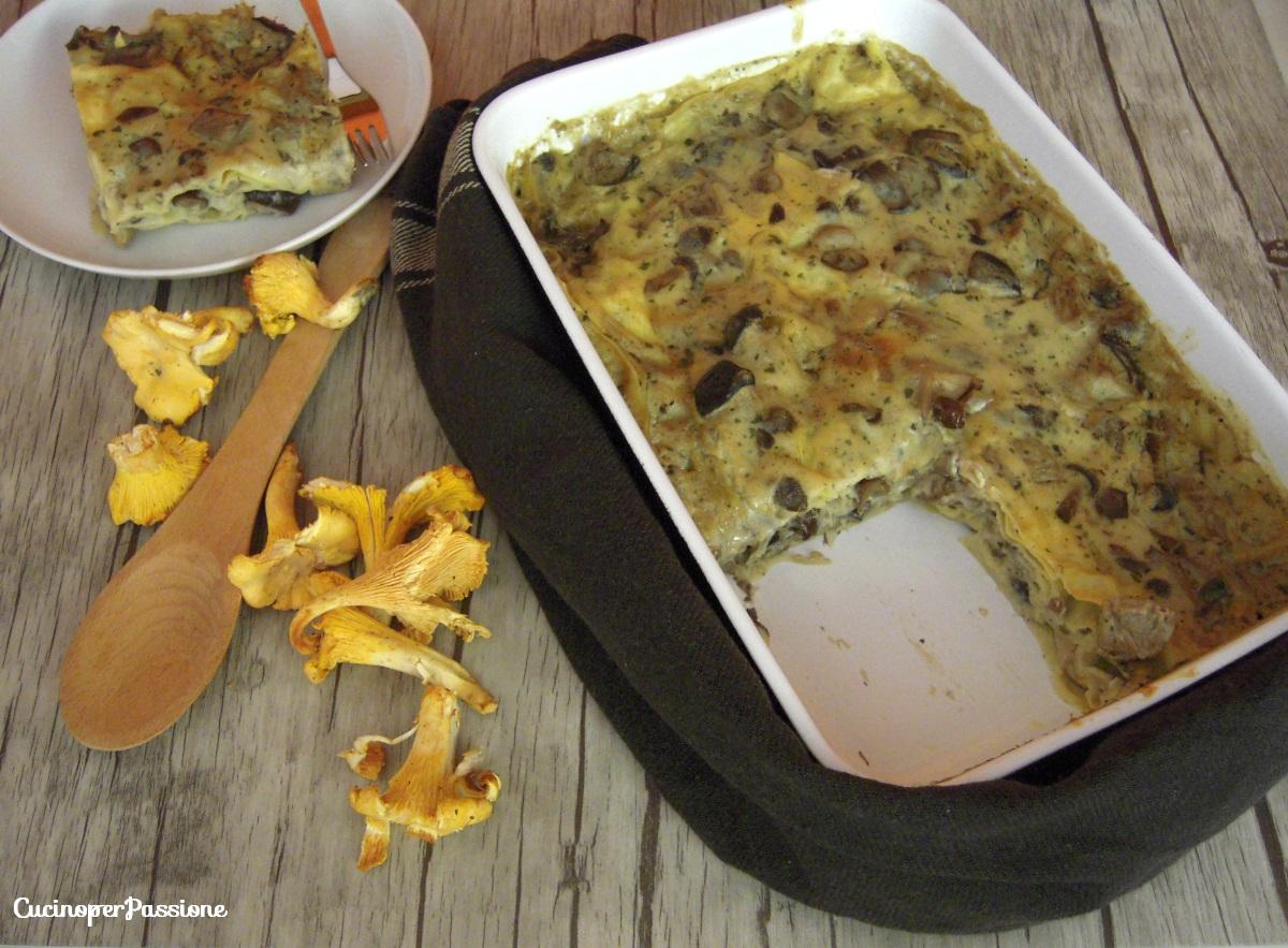Lasagne ai funghi ricetta senza lattosio
