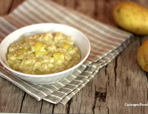 Risotto con patate piatto semplice