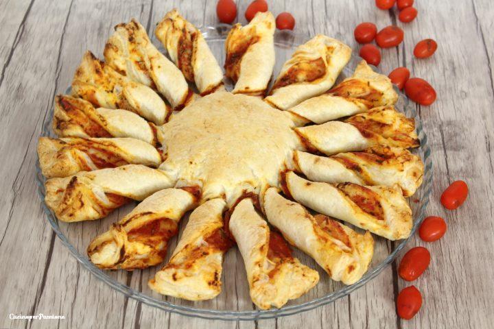 Girasole di pasta sfoglia al pomodoro
