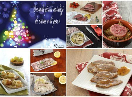 Secondi piatti natalizi di carne e di pesce