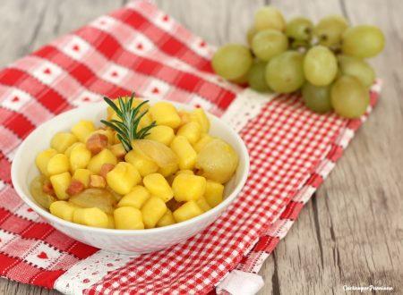 Gnocchi al sugo di pancetta e uva