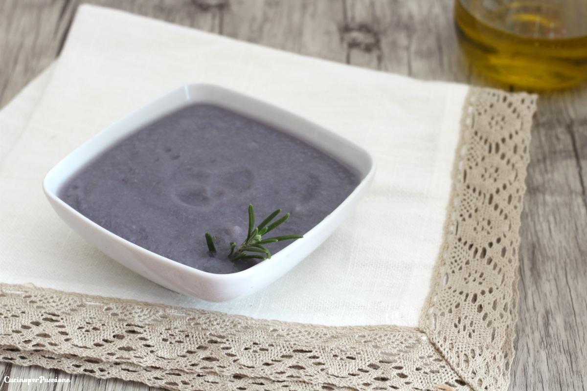 Crema di cavolfiore viola ricetta semplice