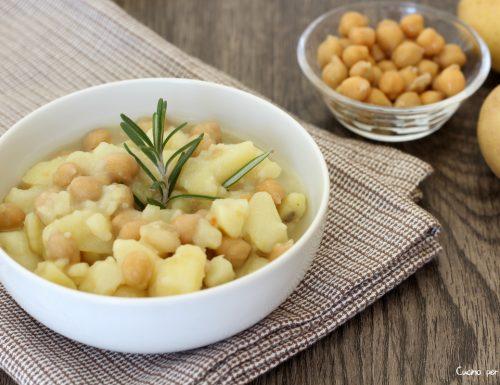 Minestra di ceci e patate buonissima