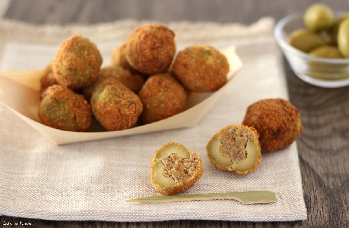 Olive ripiene e fritte antipasto sfizioso