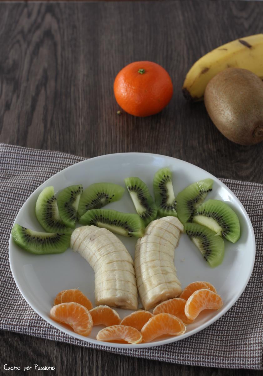 Composizione frutta - palma
