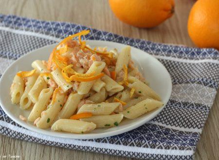 Pennette al salmone e arancia