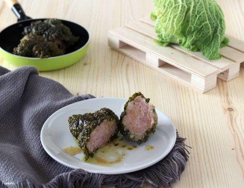 Involtini di verza e carne ricetta tradizionale