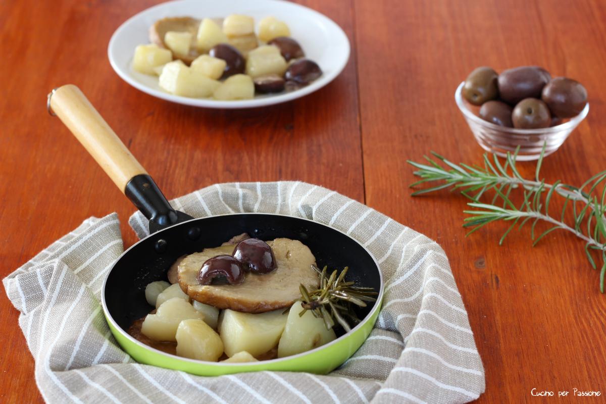 Seitan ricetta con patate ed olive