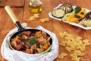 Pasta con verdure grigliate ricetta semplice