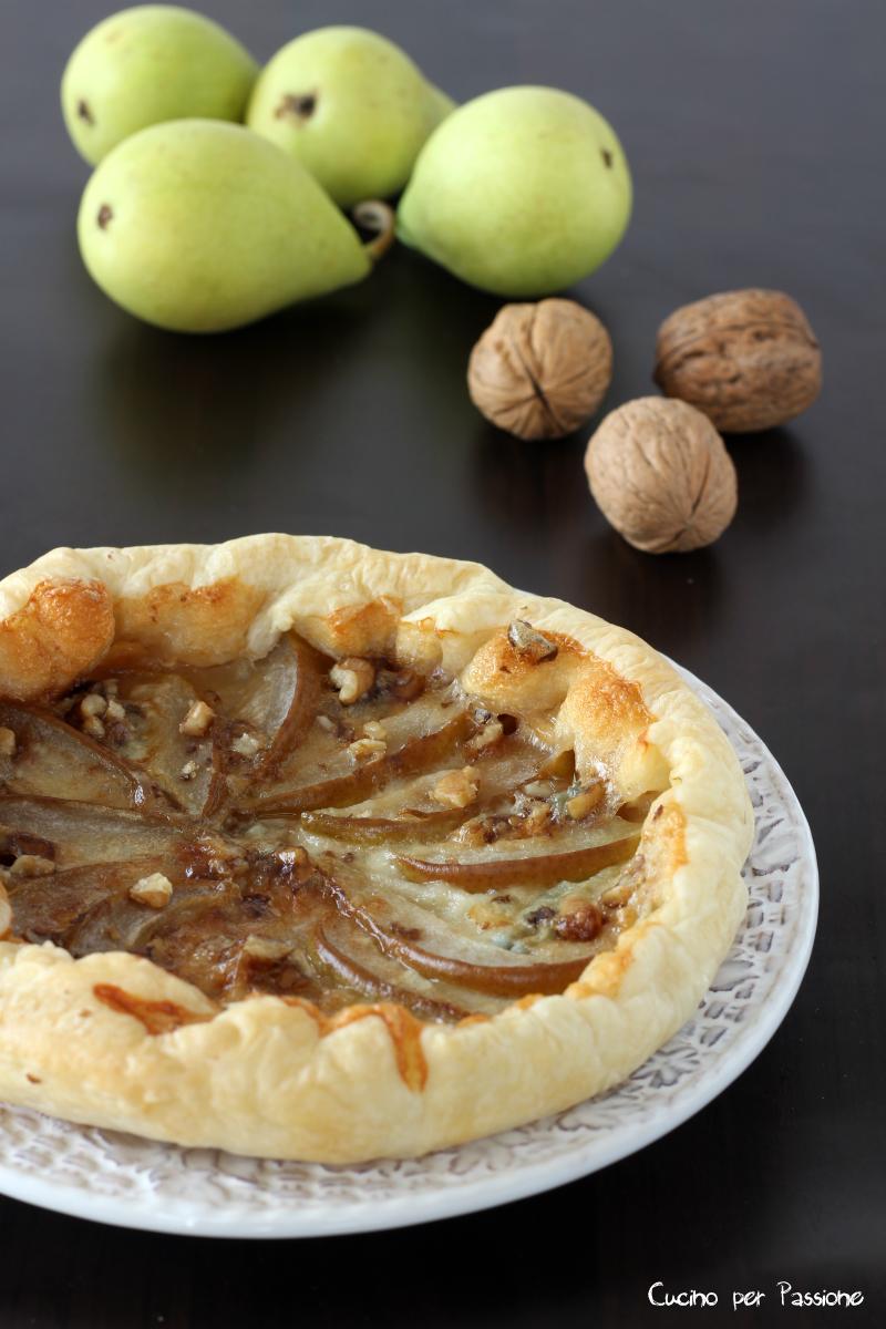 Torta Salata Gorgonzola e Pere