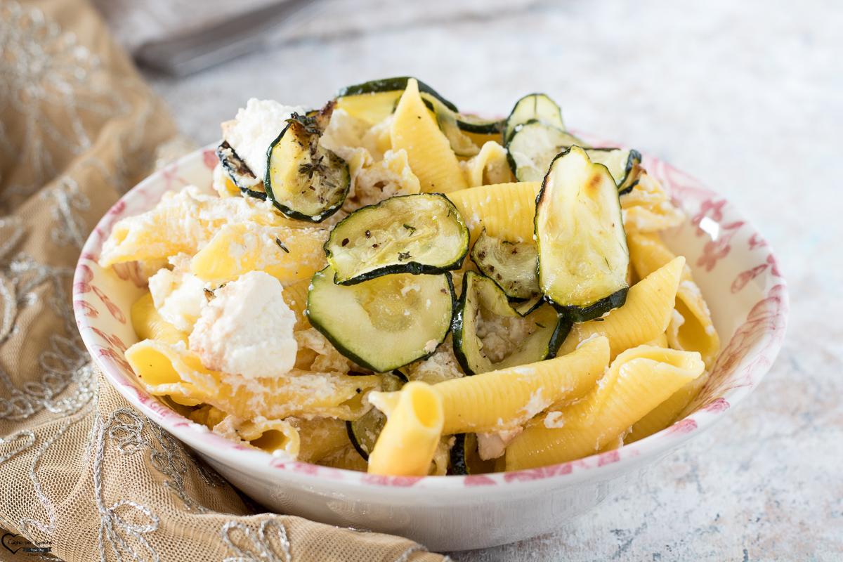 Pasta zucchine e ricotta