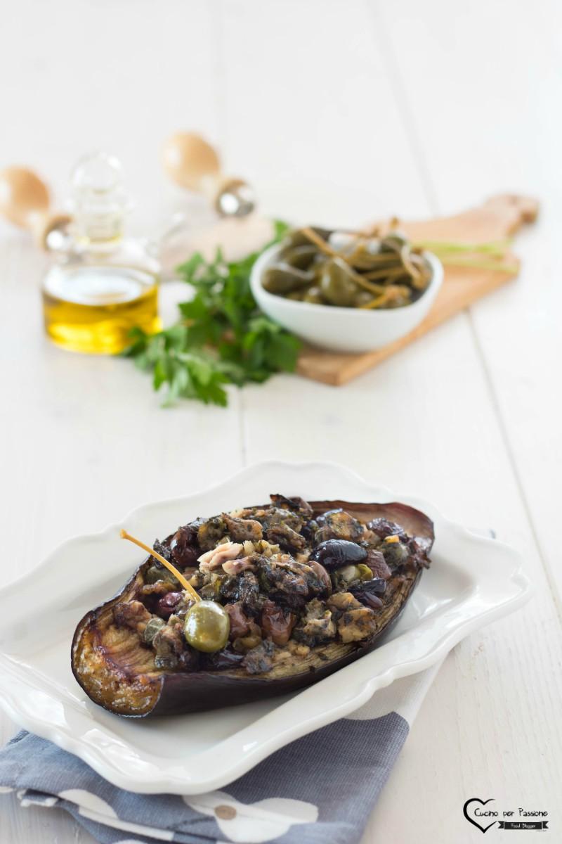 Melanzane ripiene al forno con tonno e olive