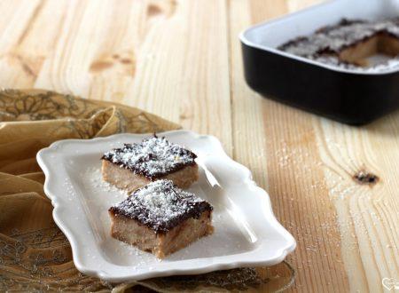 Torta al cocco e cioccolato senza cottura