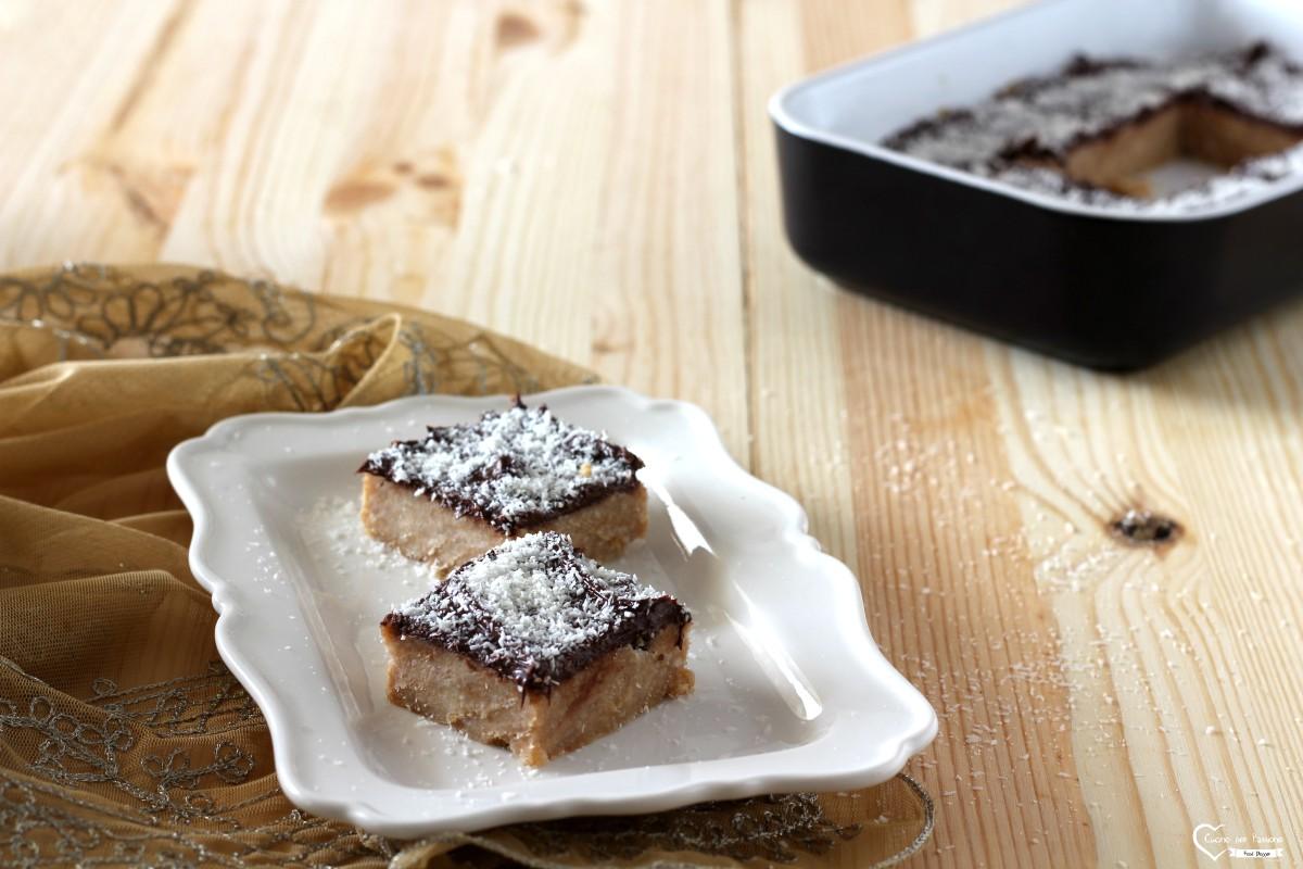 Torta senza cottura cocco e cioccolato