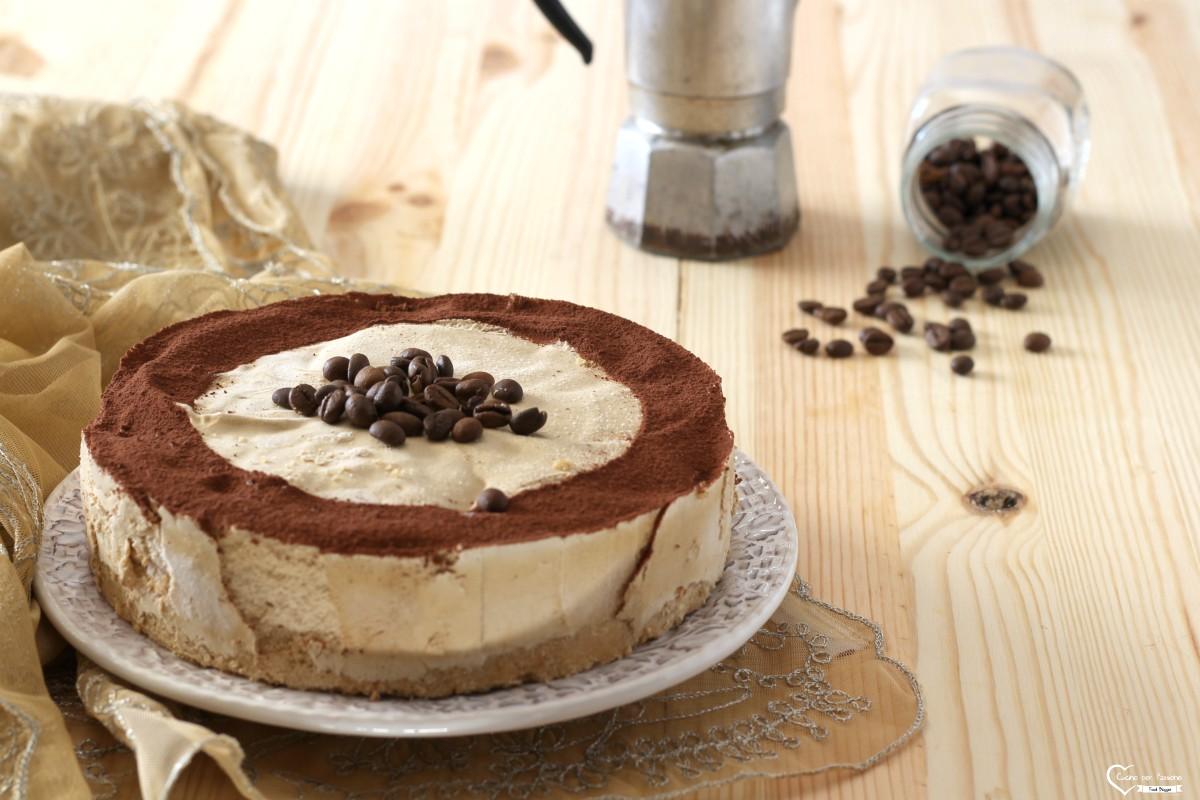 Torta gelato al caffè senza lattosio