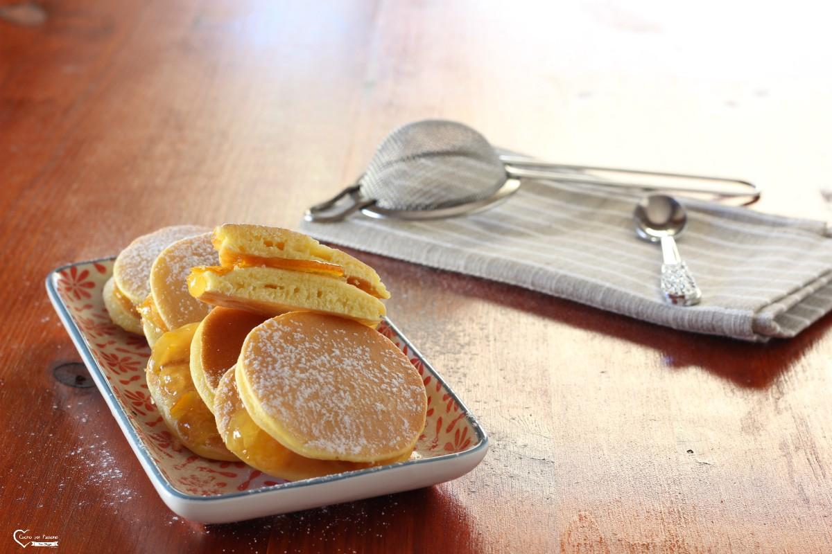 Pancake dorayaki con confettura