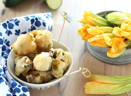 Frittelle di fiori di zucca e zucchine