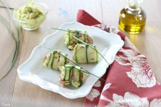 Involtini di zucchine e tonno affumicato
