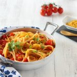 Spaghetti con la bottarga e i pomodorini