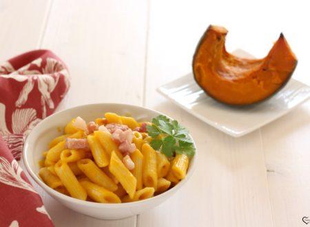 Pasta zucca e pancetta affumicata