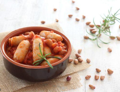 Salsiccia e fagioli piatto contadino