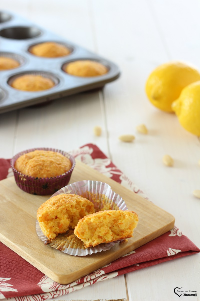 Muffin alle Carote e Mandorle