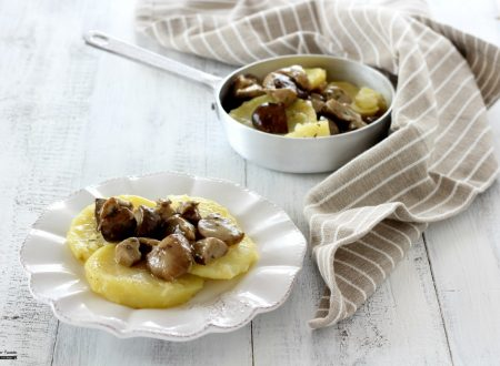 Patate e funghi porcini in padella