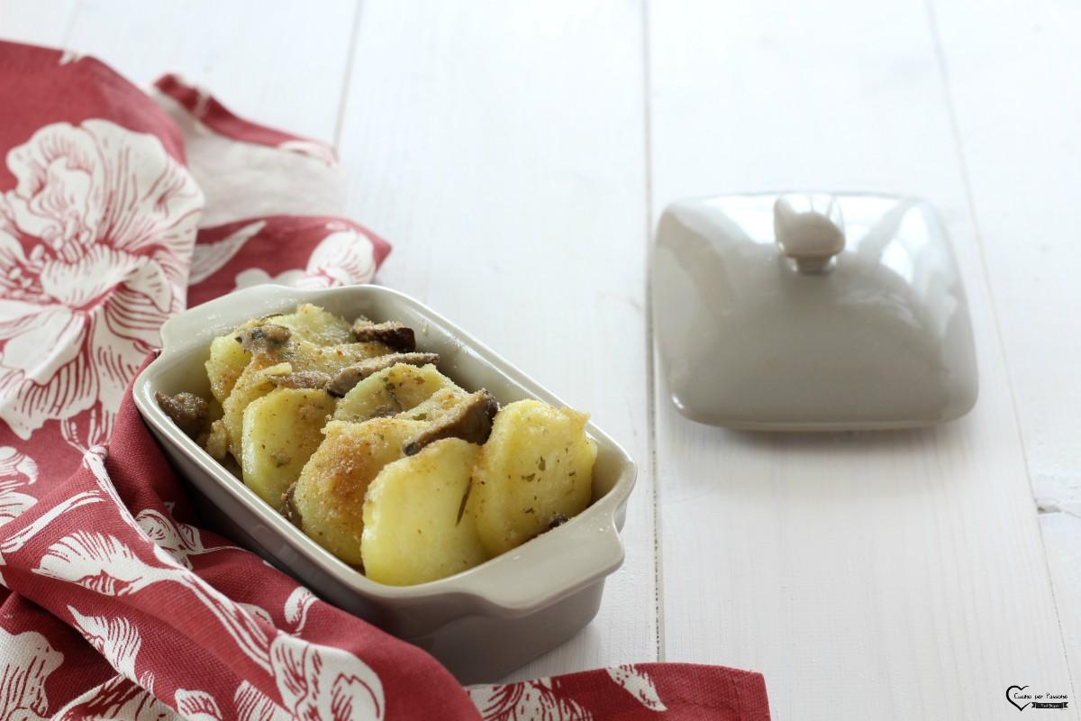 Sformato di patate e funghi porcini