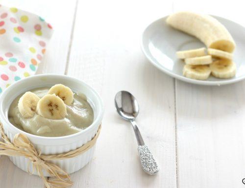 Crema alla banana dolce al cucchiaio