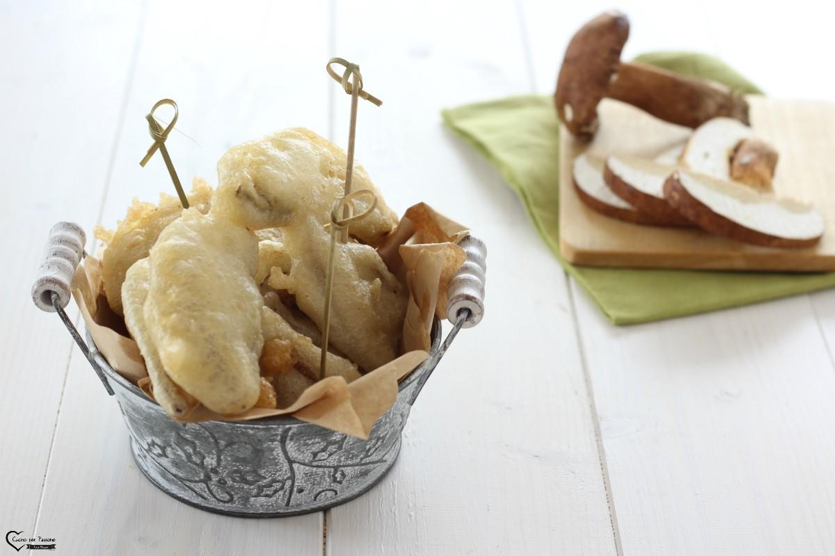 Funghi porcini fritti antipasto delizioso