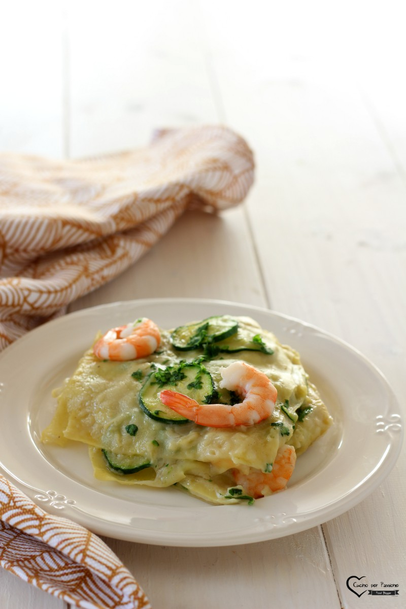Lasagne Gamberetti e Zucchine