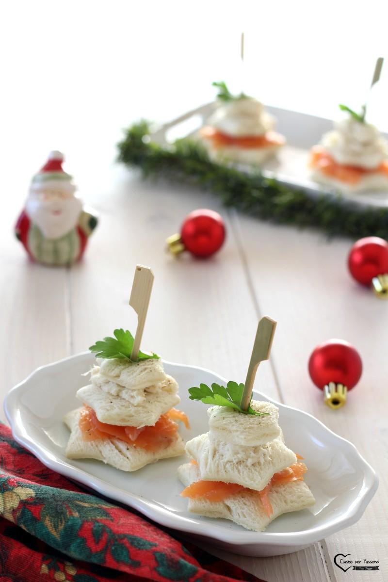 Antipasto con salmone e baccalà