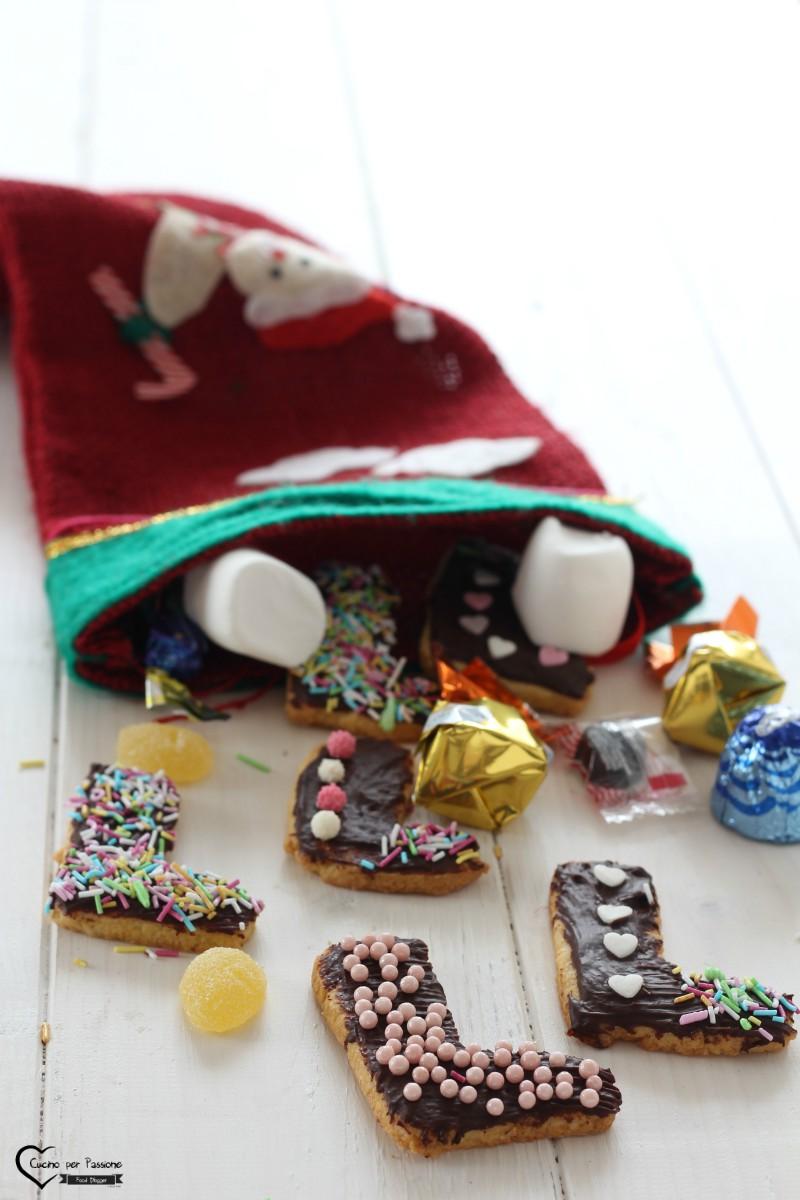 Biscotti per bambini a forma di calza