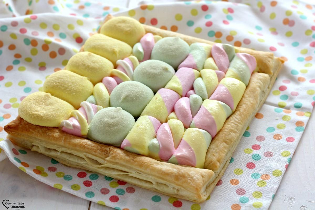 Torta di marshmallow e cioccolato fondente
