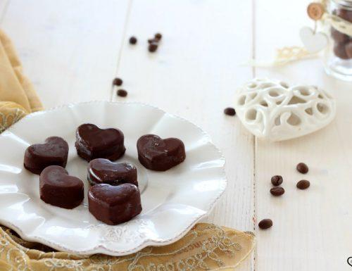 Cioccolatini ripieni al caffè, golosissimi