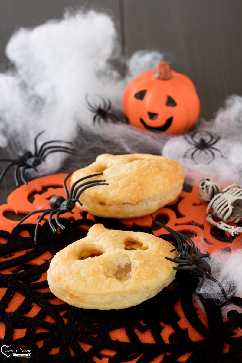 Zucche di Halloween di pasta sfoglia