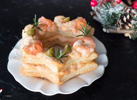Cream tart natalizia salata