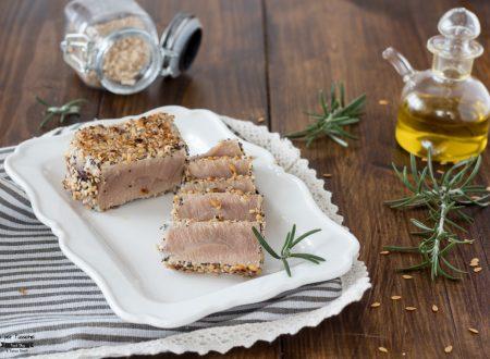 Filetto di tonno in crosta di semi
