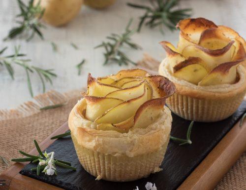 Rose di pasta sfoglia e patate