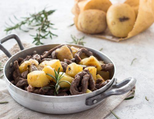 Straccetti di vitello con patate