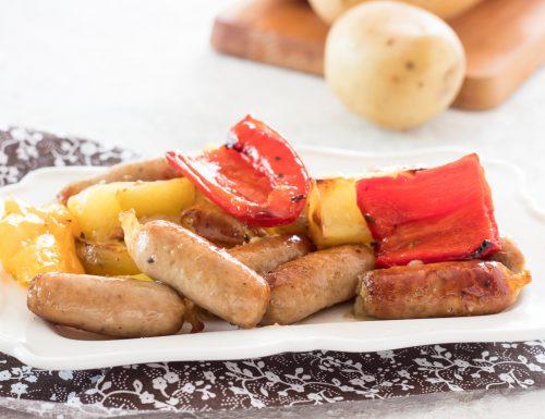 Salsiccia e peperoni al forno