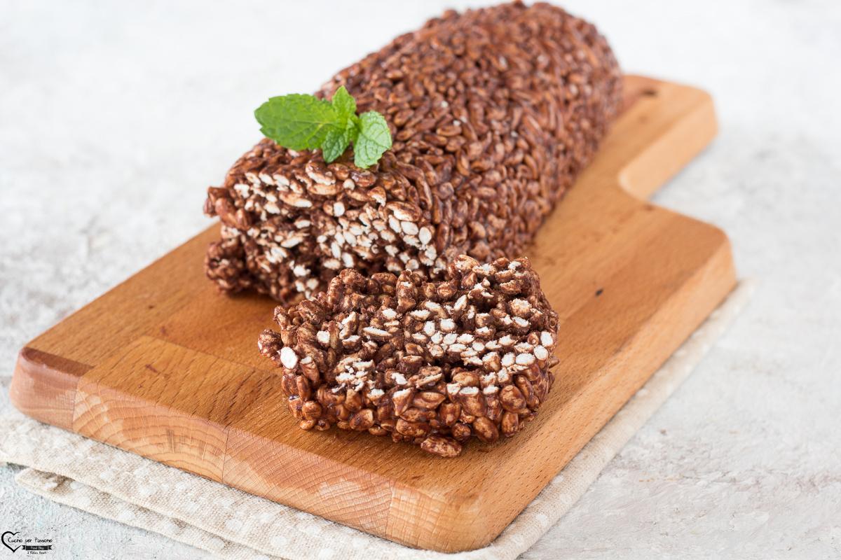 Salame di cioccolato con riso soffiato