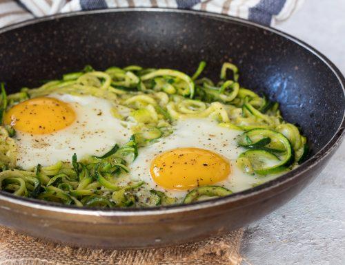 Uova con zucchine